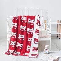 毛毯全棉针织毛线毯婴儿针织毯子儿童毛毯抱毯抱被