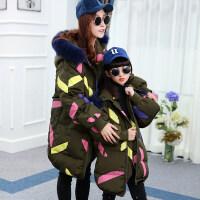 儿童羽绒服女童中长款2018新款韩版洋气大童女孩冬装加厚外套亲子