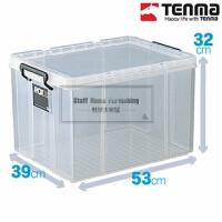 劳克斯密封床底塑料收纳箱有盖床下衣物透明整理箱530L储物盒 530L(53*39*32cm) 透明加厚(放心购买)