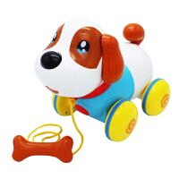 宝宝拖拉学步玩具狗狗婴幼儿1-23岁拖拉车儿童拉绳音乐玩具牵绳狗