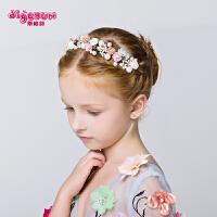 女孩饰品配饰头箍发夹儿童发饰花仙子女童发箍头饰 公主皇冠