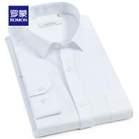 【2折到手价:96 再叠加50元优惠卷】Romon/商务竖纹职业衬衫男士新款中青年时尚休闲长袖衬衣