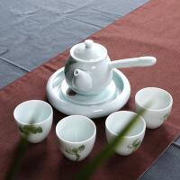 手绘青瓷茶具套装 陶瓷茶壶茶杯茶托功夫茶具礼盒组合套装