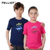 【618返场-狂欢继续】法国PELLIOT户外男女儿童快干t恤短袖 运动排汗快干衣圆领T恤正品
