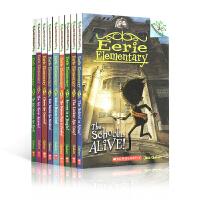 英文原版 Eerie Elementary 10册套装 Scholastic Branches 学乐大树系列 6-9岁青少年儿童英语文学书 桥梁章节小说书籍 小学生课外阅读物故事书