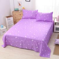单人床单单件1.5m床纯棉加厚1.8米床棉布1.5米床双人2.0m床被单 紫色 月亮-紫色