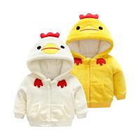 女婴儿棉衣服男宝宝0新生儿3个月1秋冬季冬装6秋装加绒加厚外套装
