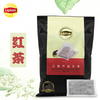 Lipton/立顿严选红茶500g 袋泡茶10包立体袋装红茶餐饮奶茶店商用
