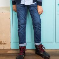 【3折价:137.7元】暇步士童装男童秋装裤子新款中大童牛仔长裤儿童弹力薄牛仔裤