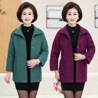 中老年女装秋装外套40-50岁中年妈妈装秋冬韩版呢子大衣新款