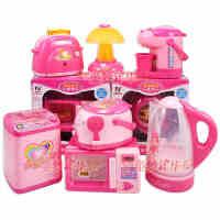 幼儿童玩具仿真迷你小家电过家家生活居家微波炉面包机男女孩礼物