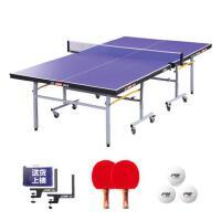 红双喜 DHS T2023乒乓球台 单折移动 (附带高档网架,乒拍,乒球)