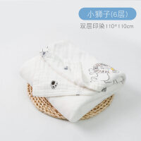 婴儿浴巾纯棉超柔吸水宝宝纱布洗澡巾斗篷新生儿童专用卡通毛巾被