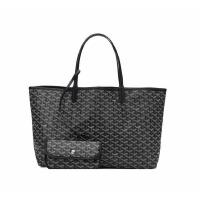 包包女 2018新款明星同款包欧美大购物袋单肩包子母包手提旅行包SN8442 黑色 大号