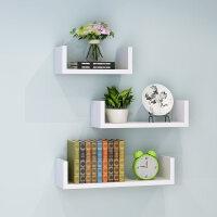 【支持礼品卡】墙上置物架客厅墙壁挂墙面隔板搁卧室多层书架免打孔简约现代装饰3xx