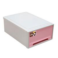处理塑料抽屉式收纳柜 整理柜 衣柜组合收纳箱 彩色收纳盒