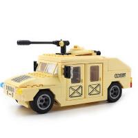 启蒙积木儿童拼装玩具 拼插积木塑料军事塑料积木装甲车 817