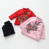 女童冬套装新年装儿童改良旗袍加厚宝宝中国风唐装两件套拜年服