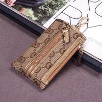 新款帆布女士汽车钥匙包女大容量韩国多功能可爱简约创意小零钱包