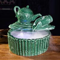 陶瓷流水喷泉客厅摆件创意流水加湿器招财风水家居装饰品工艺摆件