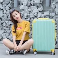 撞色万向轮拉杆箱20寸糖果色小清新行李箱女韩版学生24寸密码旅行箱