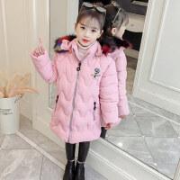 儿童女宝宝冬装2018新款韩版小女孩时尚加厚棉袄外套女童棉衣
