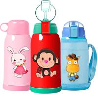 儿童保温杯带吸管两用水杯小学生水壶幼儿园宝宝可爱杯子