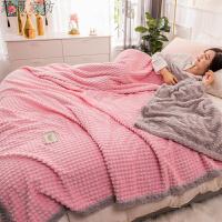 毛毯空调双层法兰绒加厚被子珊瑚绒毯子午睡毛巾被冬季小单人床单
