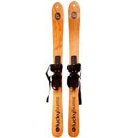高品质原木水曲柳滑雪双板大人儿童木质滑雪板雪橇