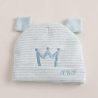 新生儿帽子秋冬季0-3个月婴儿胎帽加厚2冬天初生婴幼儿套头帽 均码