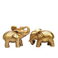 念慈阁纯铜铜象一对 风水吸水象吉祥物大象摆件新婚礼物 大象一对