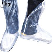 征伐 雨鞋套 男女通用防雨防滑脚套电动车摩托车雨靴一次性雨衣加厚长筒高筒鞋套