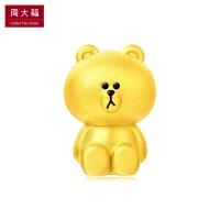 周大福LINE FRIENDS系列布朗熊足金黄金吊坠R 21429