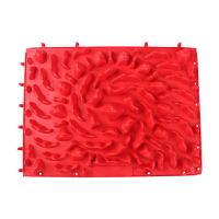 指压板 足底按摩垫趾压板浴室垫29*40cm大号千岛湖款指压板 红色 29*40CM