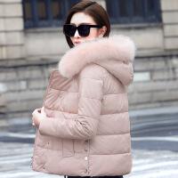 PU皮女2018新款韩版时尚百搭修身小个子冬季短款羽绒棉衣