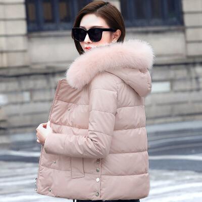 PU皮女2018新款韩版时尚百搭修身小个子冬季短款羽绒棉衣 发货周期:一般在付款后2-90天左右发货,具体发货时间请以与客服协商的时间为准