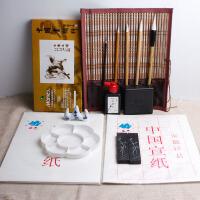 颜料24色初学者国画套装 书法毛笔水墨工具用品全套l 国画套装