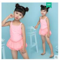 新款�和�游泳衣女�w裙式小中大童泳�童女孩泳�b公主比基尼�����B�敉�