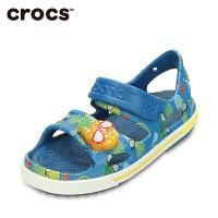 Crocs卡骆驰男童凉鞋 夏季卡骆班菠萝宝宝LED儿童沙滩凉鞋 202823