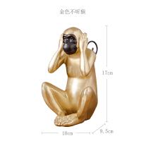 北欧日式创意家居装饰品摆件现代中式客厅酒柜个性三不猴子摆设