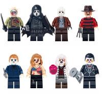小丑回魂恐怖电影拼装人仔乔治小黑贝弗莉兼容乐高积木玩具