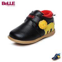 百丽Belle童鞋男童宝宝鞋2017秋冬新款幼童鞋儿童跑步运动鞋加绒学生鞋(0-4岁可选) DE5905