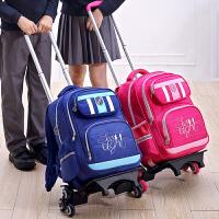 儿童拉杆书包三六轮拖拉箱包爬楼梯6-12周岁小学生男女孩双肩背包