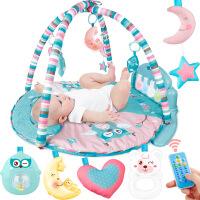 脚踏钢琴新生儿多功能带音乐婴儿健身架 健身架摇床摇铃玩具