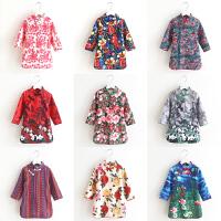 女童旗袍新款童装儿童中国风复古连衣裙宝宝仿麻全棉里布唐装裙子