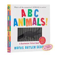 【中商原版】视觉动物ABC动画书 英文原版 ABC Animals!会动的书 动画效果书 趣味ABC认知书