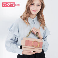 aza阿札2017新款女包 时尚包包复古优雅单肩链条手提斜挎包2722