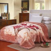 毛毯加厚双层单人双人珊瑚绒毯子秋冬季婚庆盖毯被子 200x230cm 约9斤(冬季特厚)