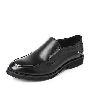 Tata/他她2017秋牛皮时尚简约打孔套脚方跟男皮鞋D3161CM7