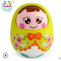 汇乐979大号音乐不倒翁点头娃娃初生宝宝益智0-1-2-3岁婴儿童玩具 绿色
